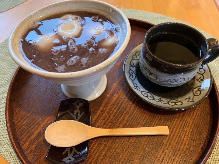 白老 陶cafe輪果 鍋焼き おしるこ懐石