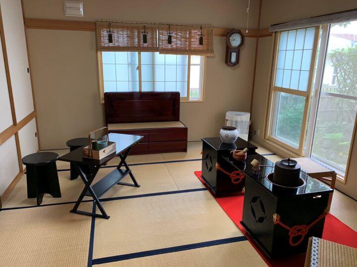白老 茶道体験 茶室