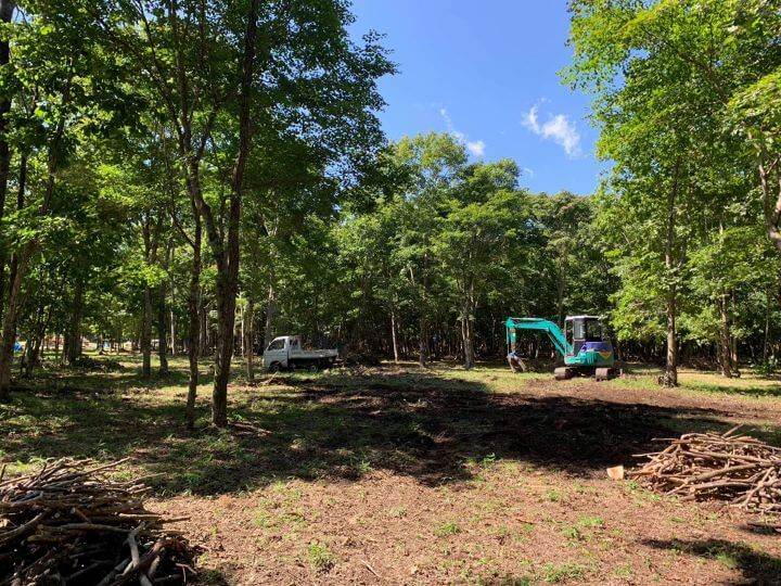 白老 ブウベツの森キャンプ場 キャンプ サイト 手作り