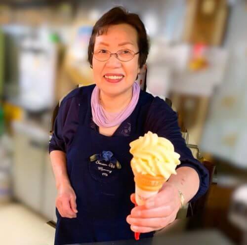 白老 ソフトクリーム 湯元ほくよう
