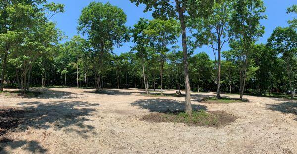 白老 ブウベツの森キャンプ場 きこり 木炭 薪 ならの木家