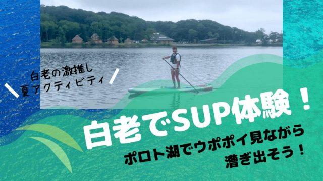 白老 SUP サップ 体験 ポロト湖 ウポポイ