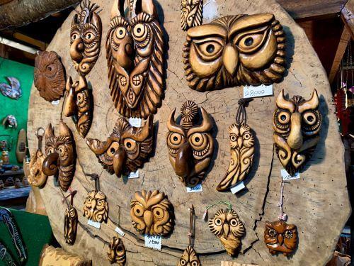 白老荒井工芸館 創作木彫り ハンドメイド 異空間 お土産 木彫り 熊 アイヌ