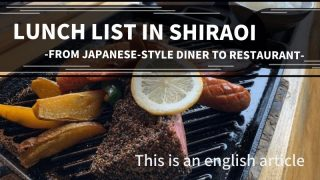 Lunch list in Shiraoi