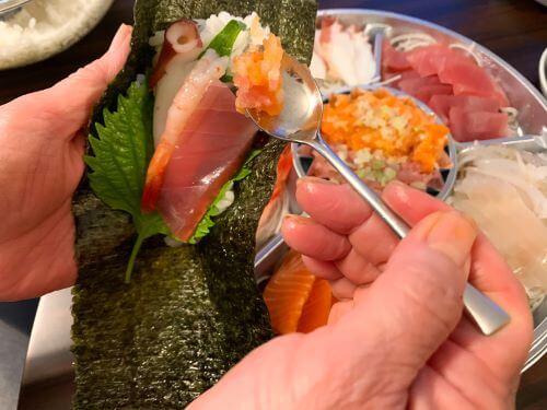 白老 虎杖浜 マルカン本間水産 たっちゃん食堂 テイクアウト