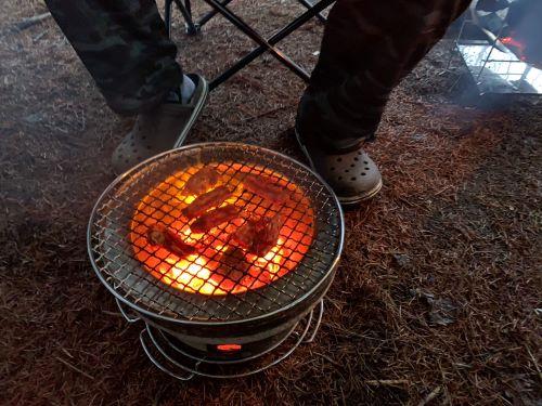 白老 アソブバ ハンモックサイト 冬キャンプ
