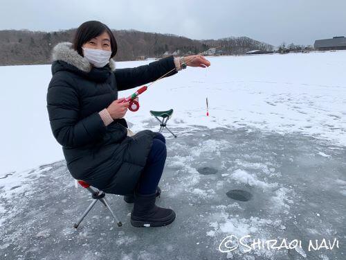 白老 ポロト湖 ワカサギ釣り わかさぎ割 レンタル