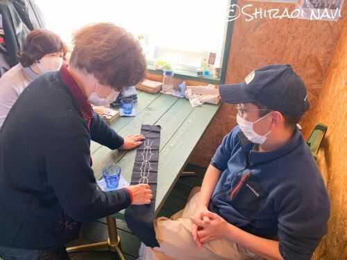 白老 ミナパチセ アイヌ文様刺繍教室 アイヌ料理 アイヌ着物試着