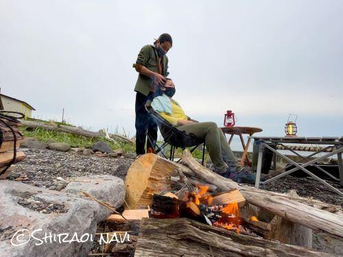 白老 豊水館 温泉 一軒家 宿 源泉かけ流し 焚火 BBQ